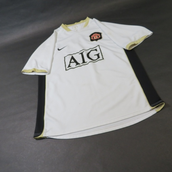 meet 2449e 11da2 ⚽️ Manchester United AIG Soccer Jersey MEDIUM
